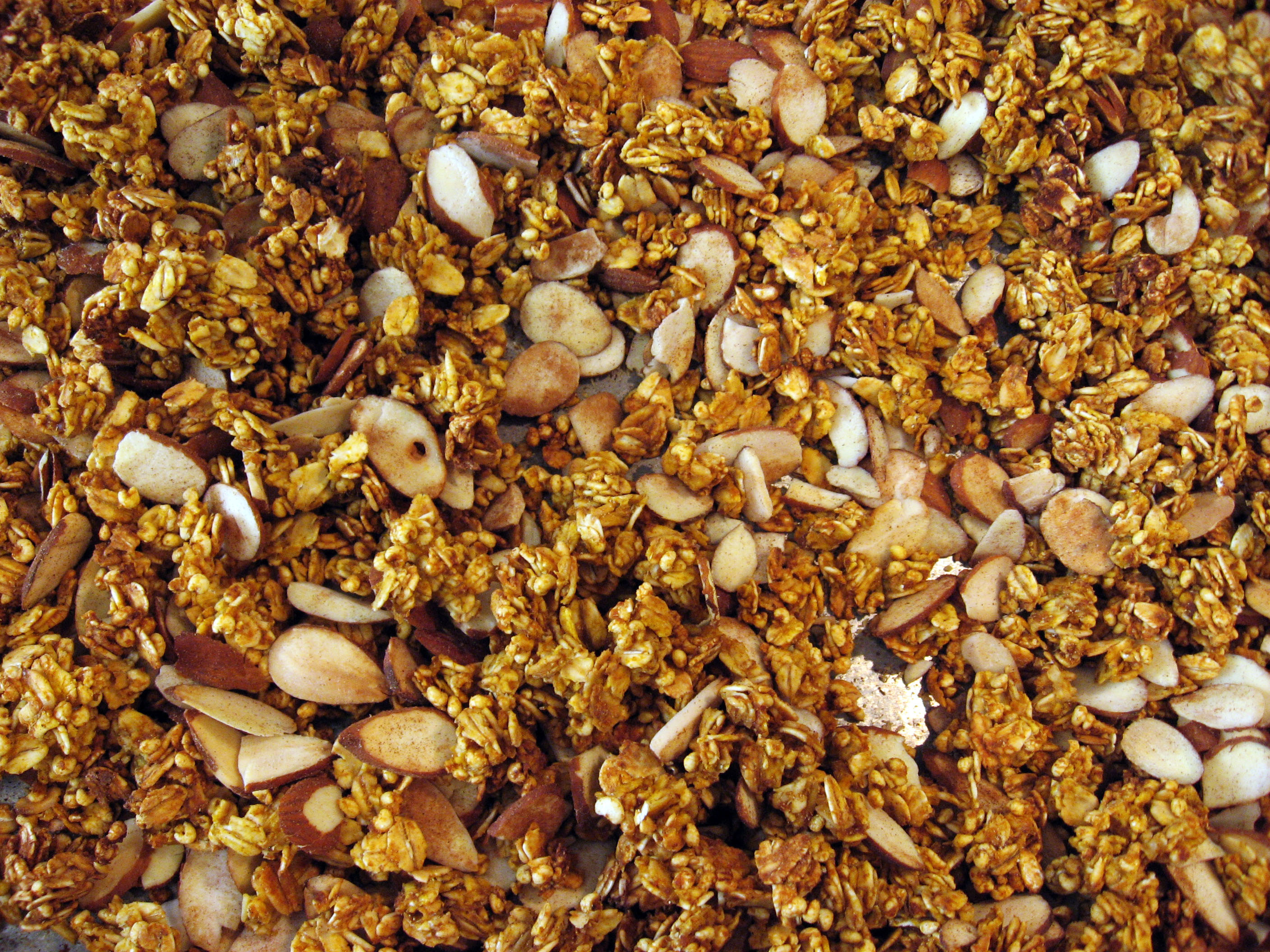 Let the granola cool completely before tossing with dark chocolate ...